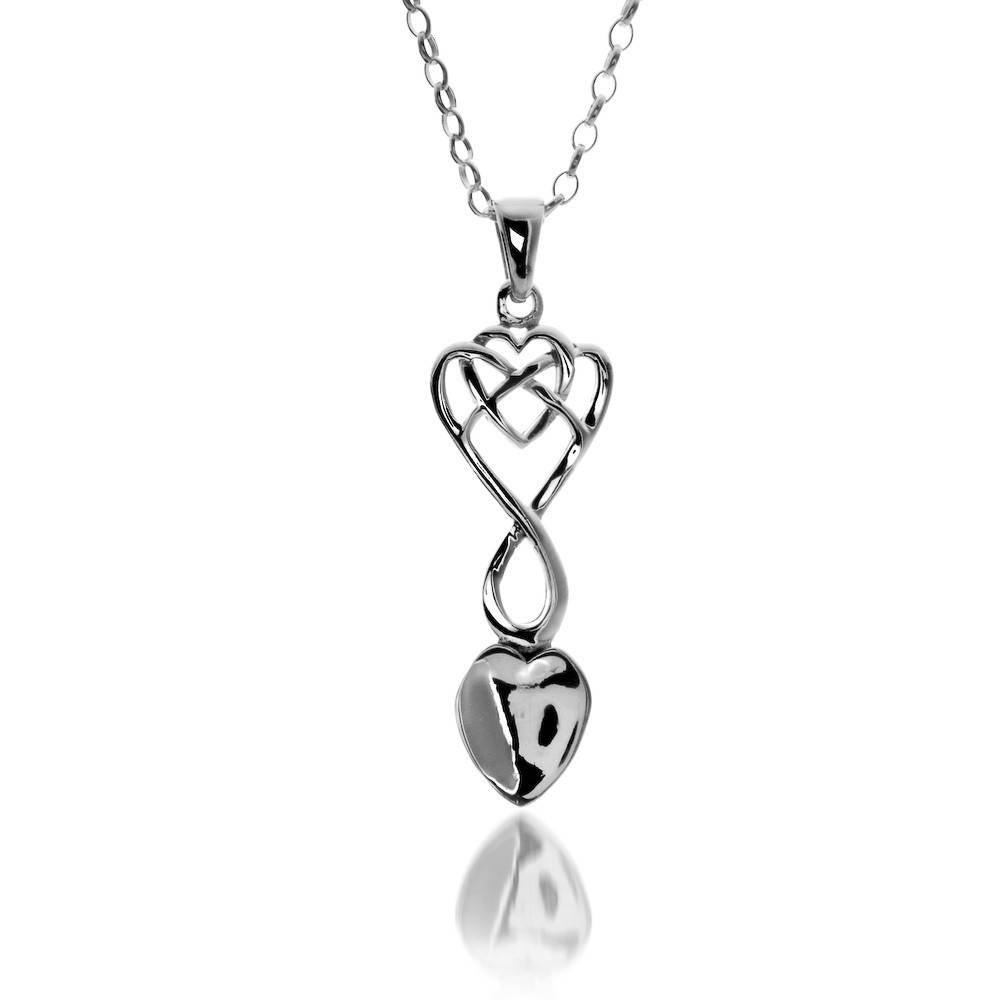 Pendent: Silver Welsh Love Spoon/Heart