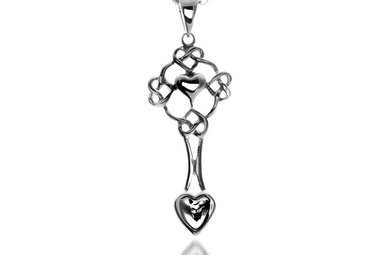 Pendent: Silver Welsh Love Spoon