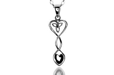 Pendant: Silver Celtic Heart Welsh Spoon