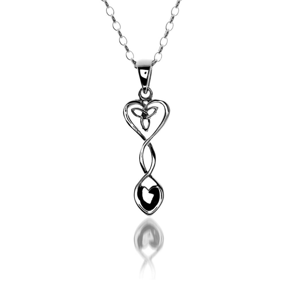 Pendent: Silver Celtic Heart Welsh Spoon