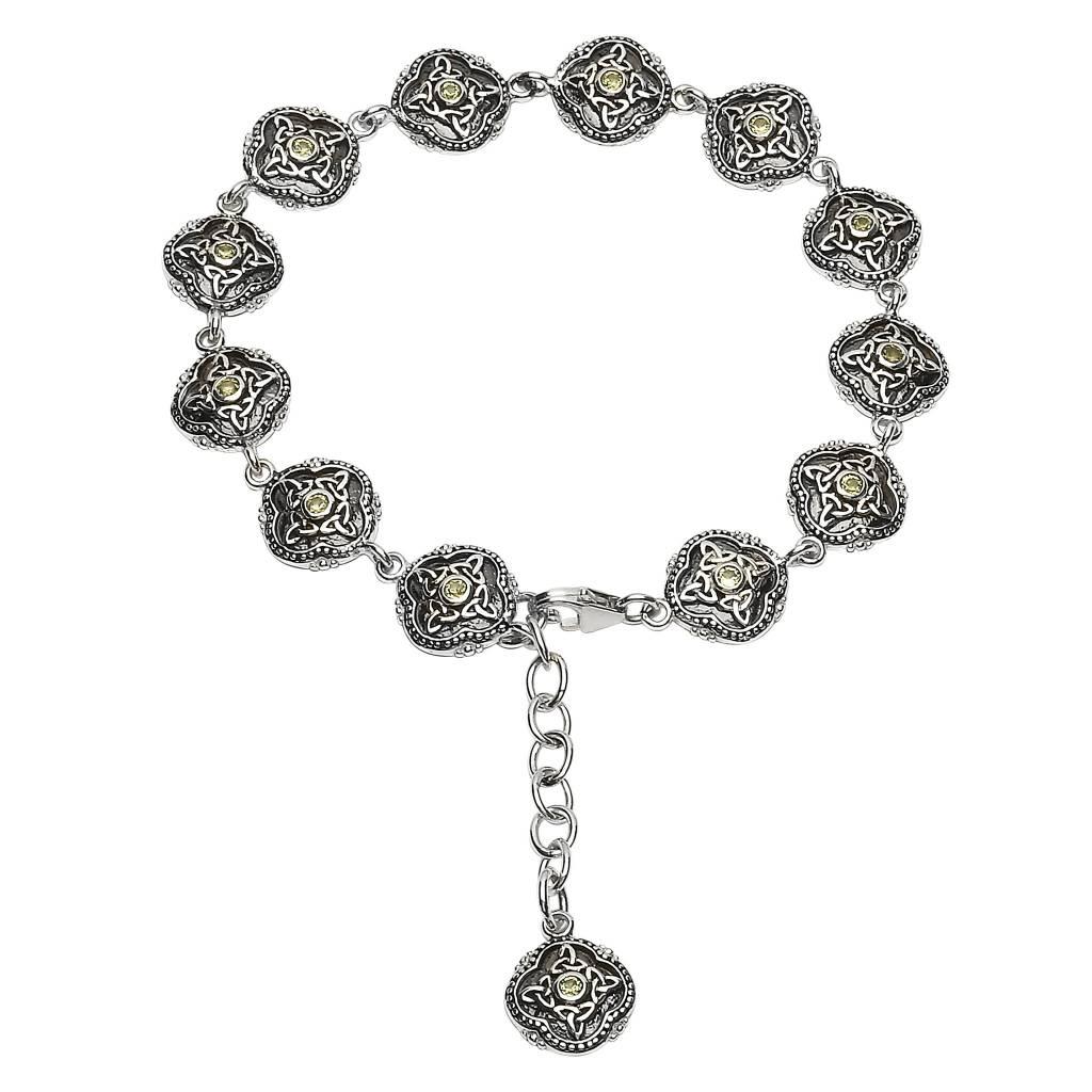 Shanore Bracelet: SS Peridot Celtic