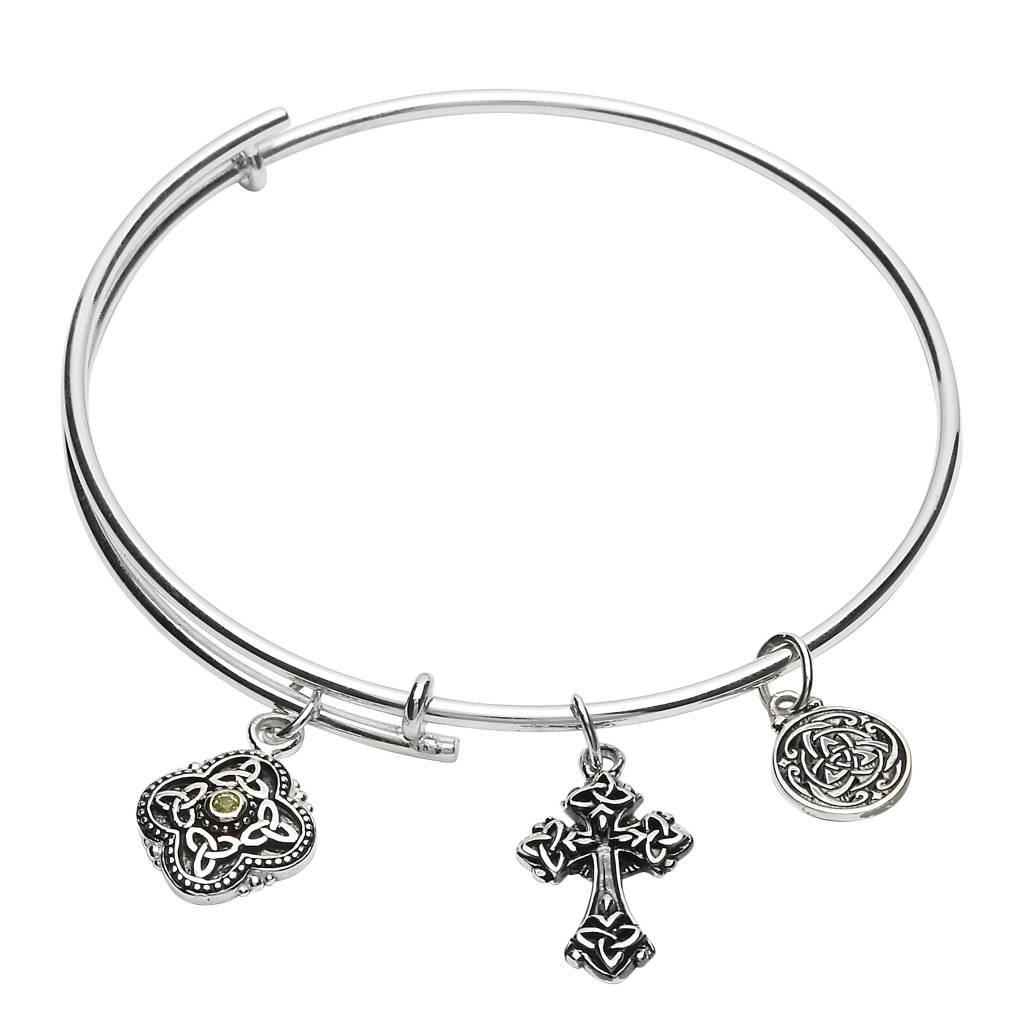 Bracelet: SS Peridot Charm Bracelet