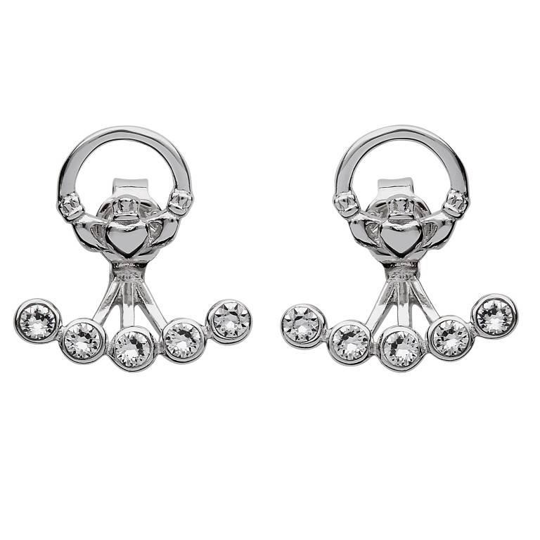 Earrings: Swarovski Claddagh