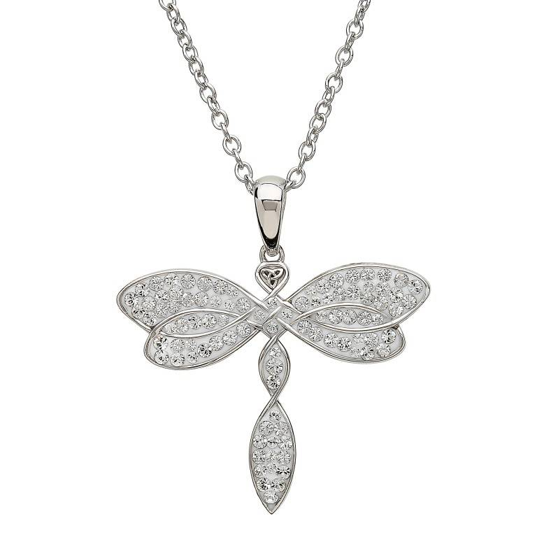 Pendent: Swarovski Celtic Dragonfly