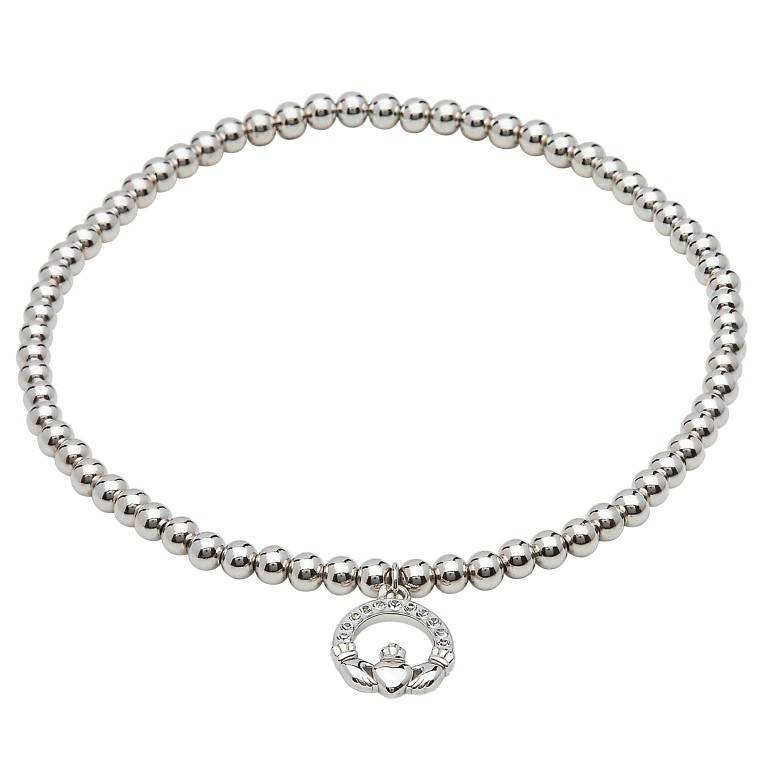 Bracelet: SS Swarovski Claddagh Charm