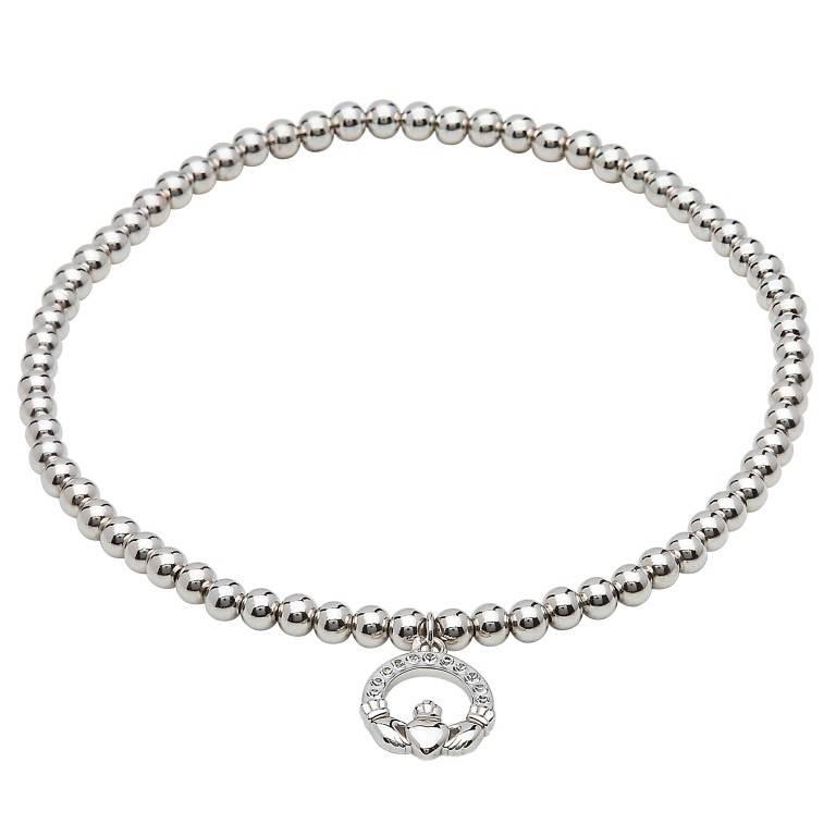 Shanore Bracelet: SS Swarovski Claddagh Charm