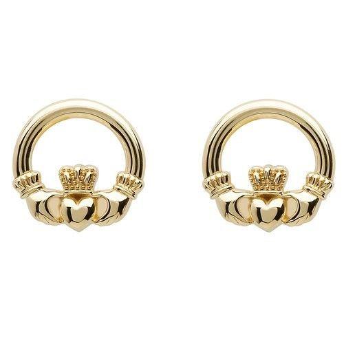 Earrings: 10K Claddagh Stud