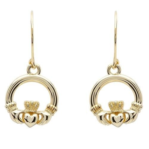 Earrings: 10K Gold Claddagh