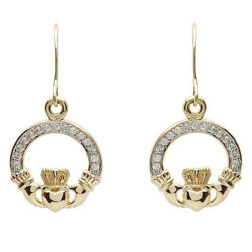 Earring: 10k CZ Claddagh