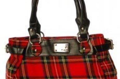 Bag: Ladies 12oz Wool Metal Plate Stewart Royal