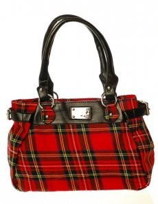 Bag: Ladies 12oz Wool Metal Plate Stewart Royal