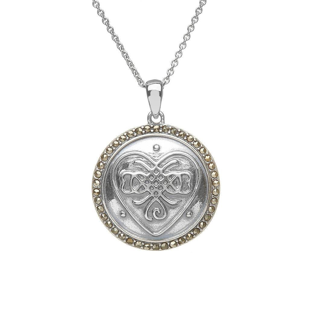 Pendant: SS Celtic Marcasite Button