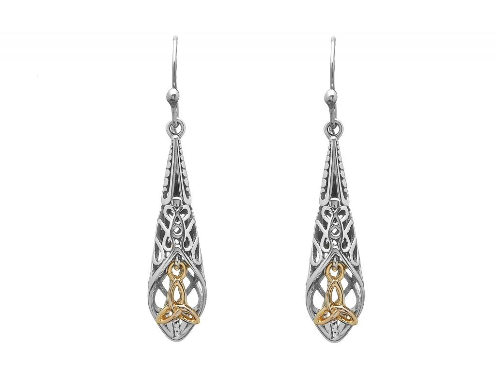 Earrings: SS Celtic Drop/GP Trinity