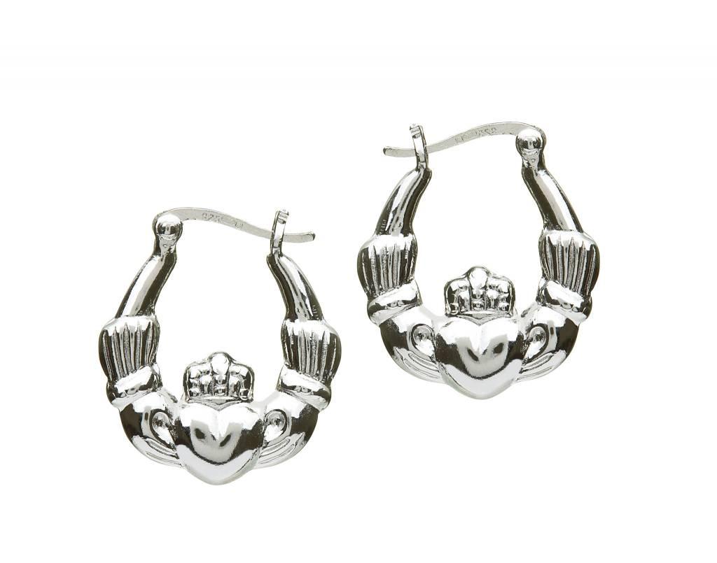 Earring: SS Hoop Claddagh