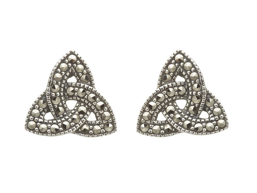 Earrings: SS Marcasite Trinity