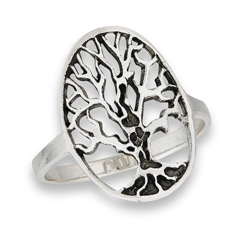 Ring: SS Oval Tree of LIfe