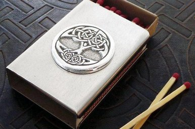 Matchbox Cover: Tree of Life Pewter