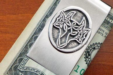 Moneyclip: Dragon Pewter