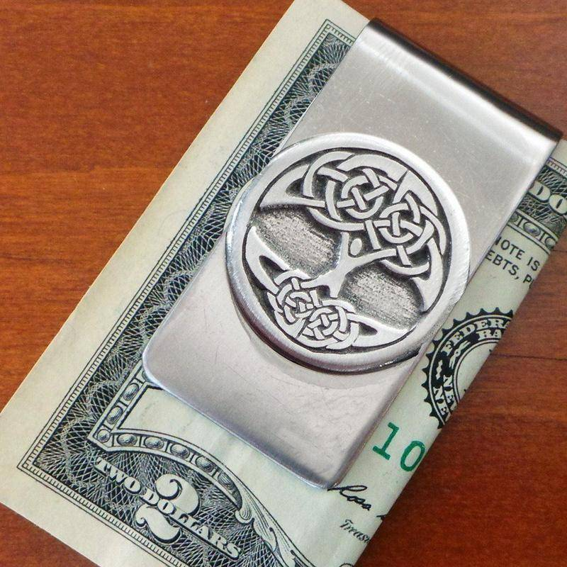 Moneyclip: Tree of Life Pewter
