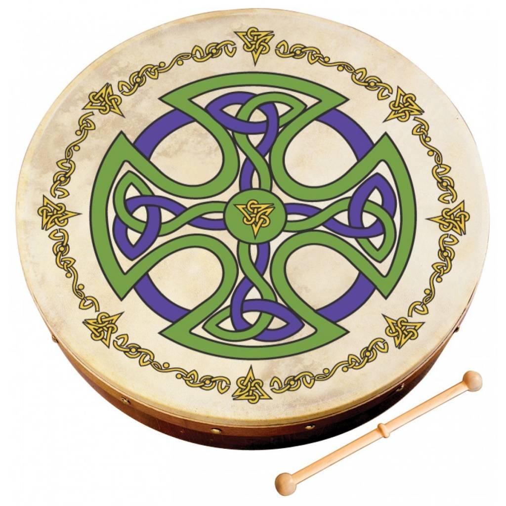 "Bodhran: 12"" Brosna Cross Design"