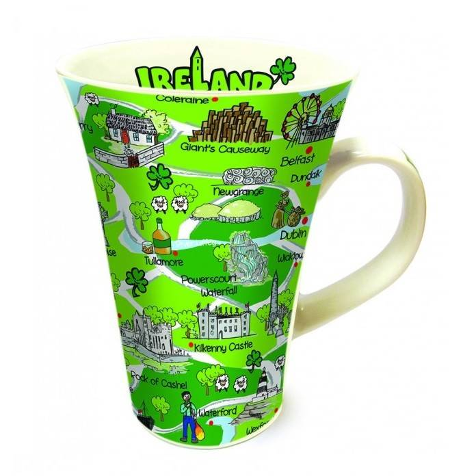 Mug: Ireland Map, Tall