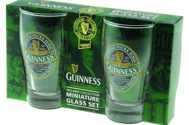Glasses: Guinness Mini Pints