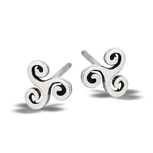 Earring: SS Triskelion Stud WE1409