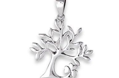 Necklace: SS Tree of Life/Shamrock WE9398