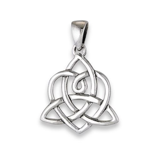 Necklace: SS Woven Heart/Triquetra WE8902