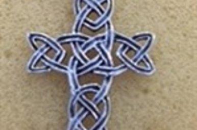 Necklace: SS Interwoven Cross WE9163