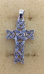 Necklace: SS Interwoven Cross WE9163