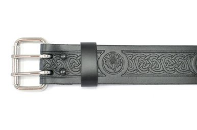 "Belt: 2"" Roller, Embossed Thistle"