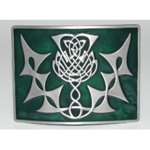 Buckle: Thistle Knot, Green