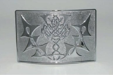 Buckle: Thistle Knot, Chrome