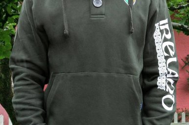 Shirt: Ireland Green Hoodie Two Button