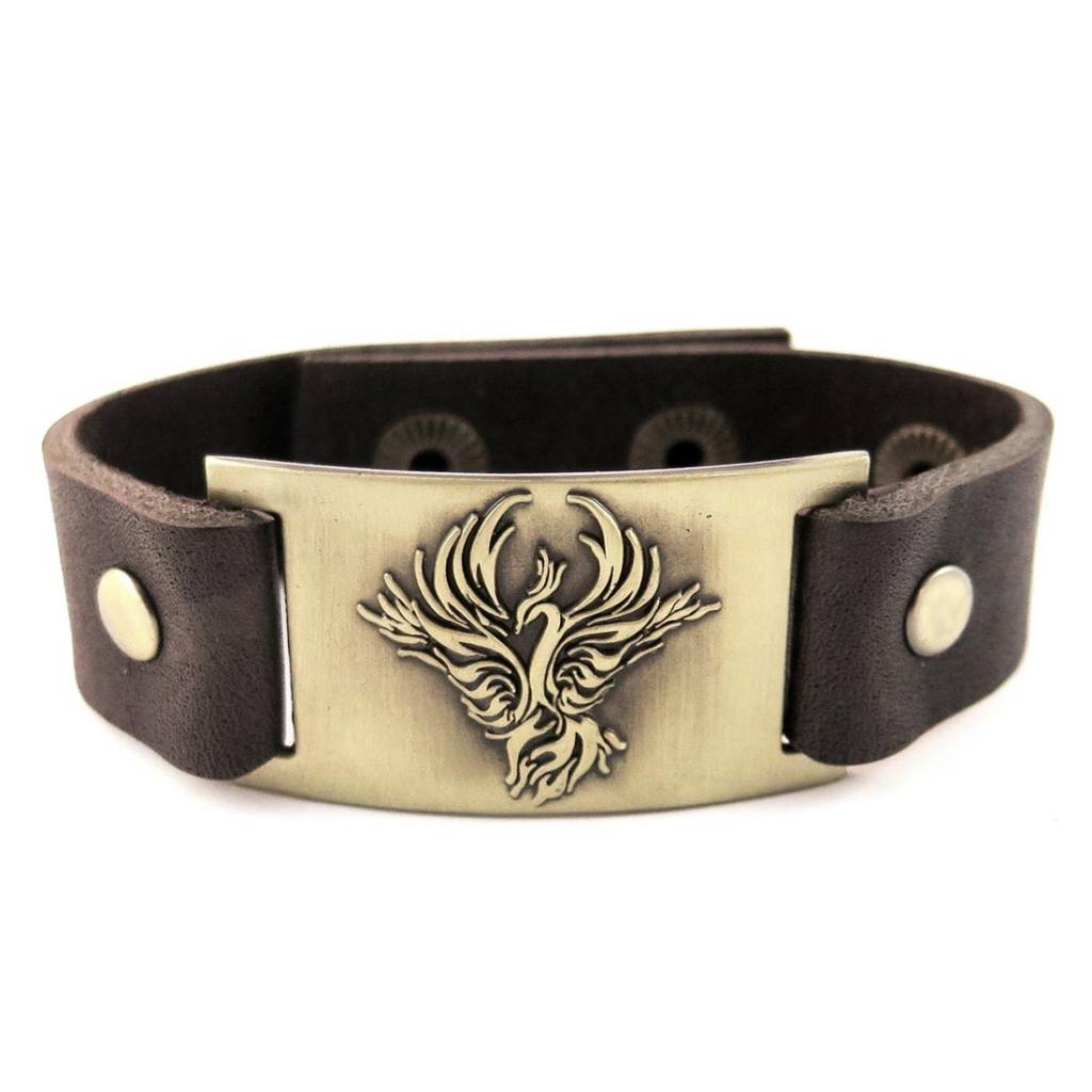 Leather Bracelet: Celtic Phoenix, Leather & Zinc Alloy