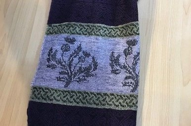 Scarf: Thistle Purple