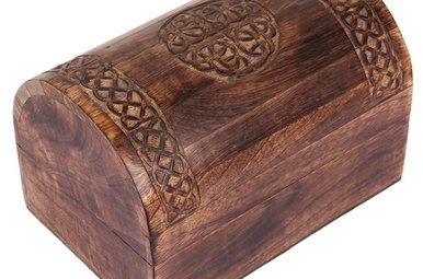 "Treasure Box: Celtic Knot, Wooden (6""x3"")"