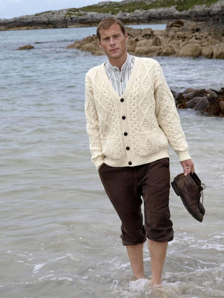 Sweater: Cardigan V Neck