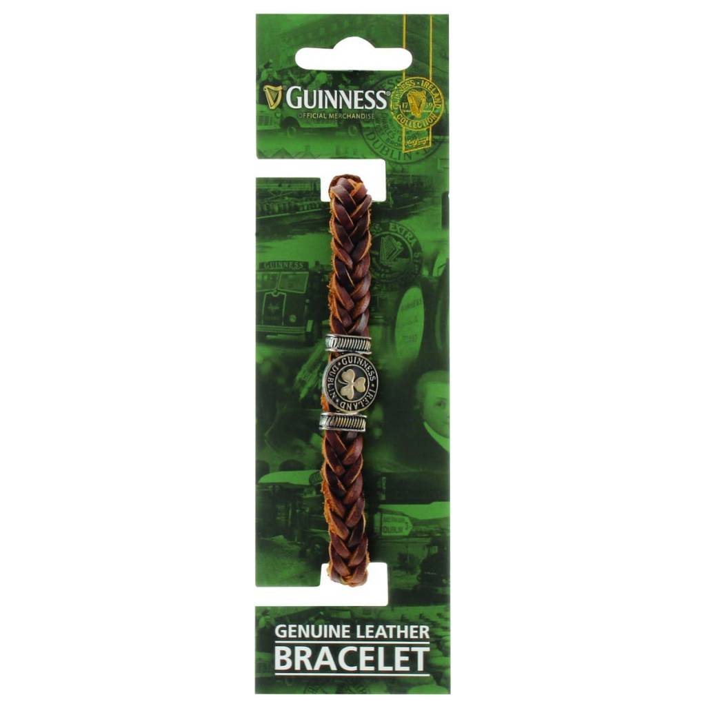 Guinness Bracelet: Guinness Ireland Leather