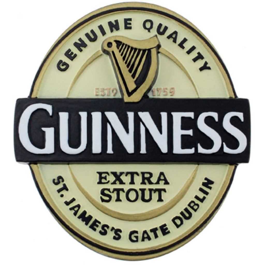 Guinness: Resin Magnet, Label