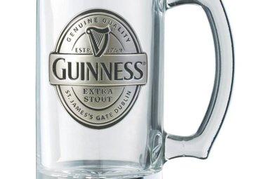 Glass: Guinness Logo Tankard, Pewter