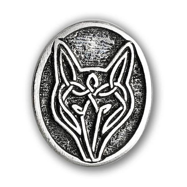 Lapel Pin: Pewter Wolf