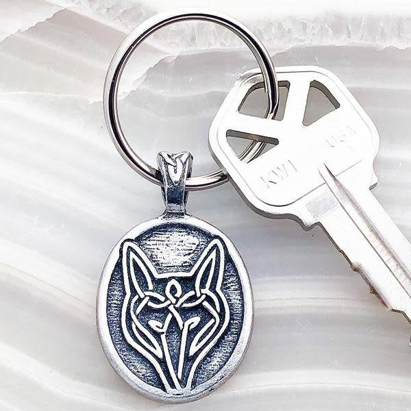 Keychain: Wolf Pewter