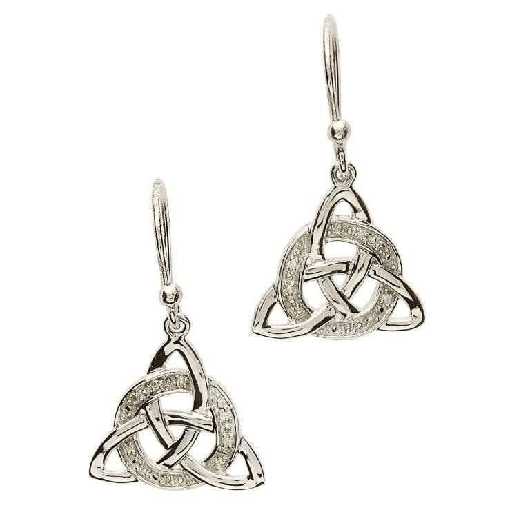 Earring: SS Dia Set Trinity