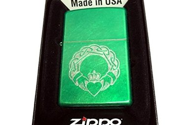 Lighter: Zippo Green Claddagh
