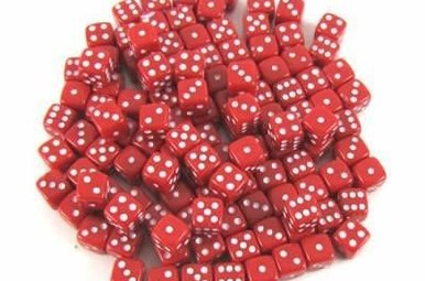 Dice: Welsh Dragon Red, Miniature