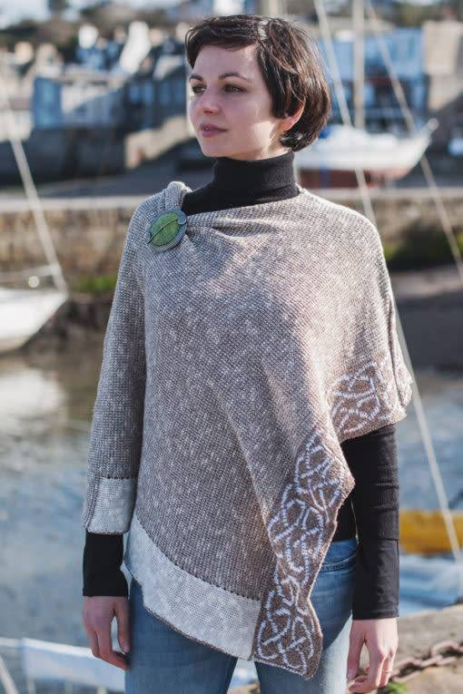 Cape: Silk and Linen Wallace Oat