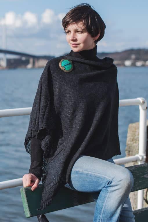 Cape: Silk and Linen Cape Night