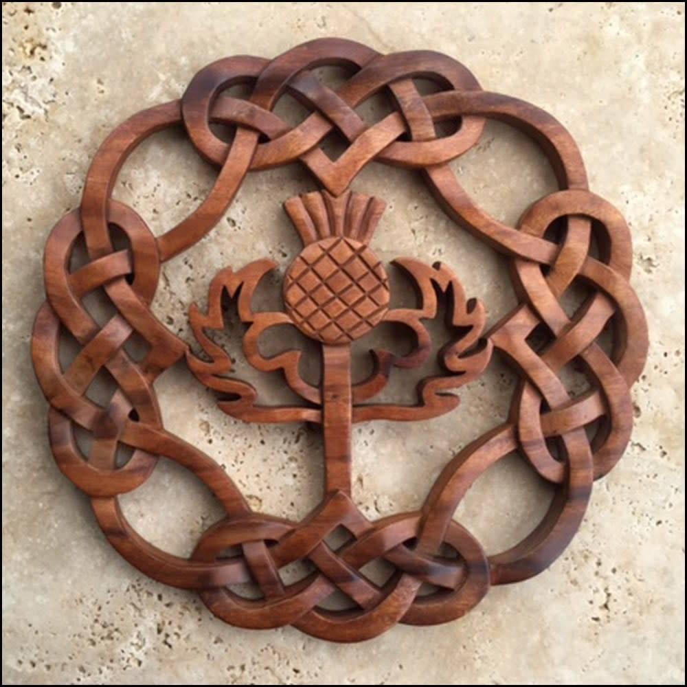 Plaque: Scottish Thistle